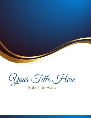 Blue and gold semi formal design
