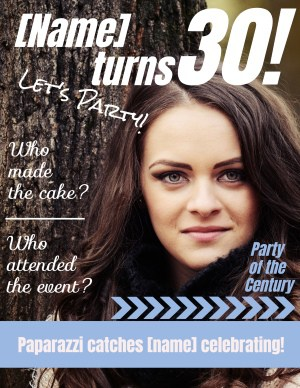 Magazine cover for Birthday