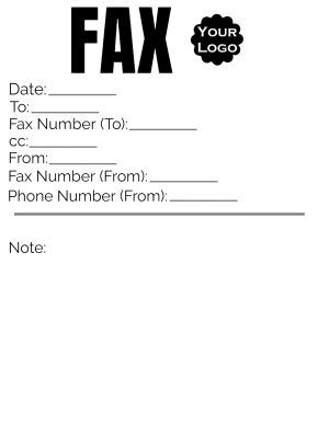 Fax Cover with Logo
