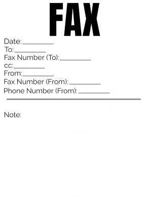 Cover for Fax