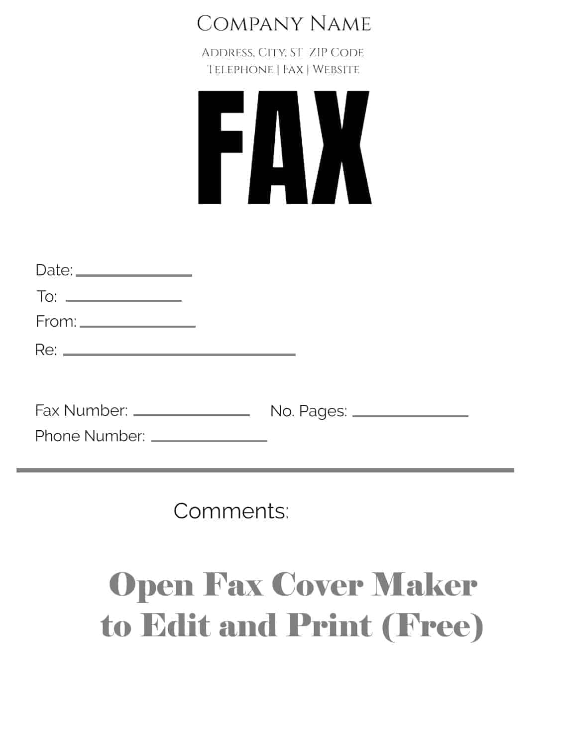 image regarding Printable Fax Sheet identified as Free of charge fax include sheet Customise on-line then print